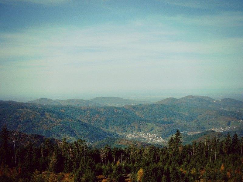 Hochmoor Kaltenbronn - Ausblick über den Schwarzwald