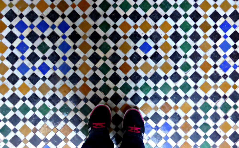 Mosaik im Bahia Palast in Marrakesch
