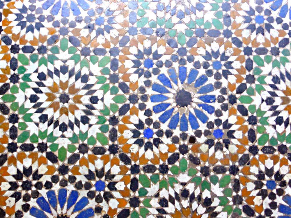 Ornamente und Mosaike im Bahia Palast