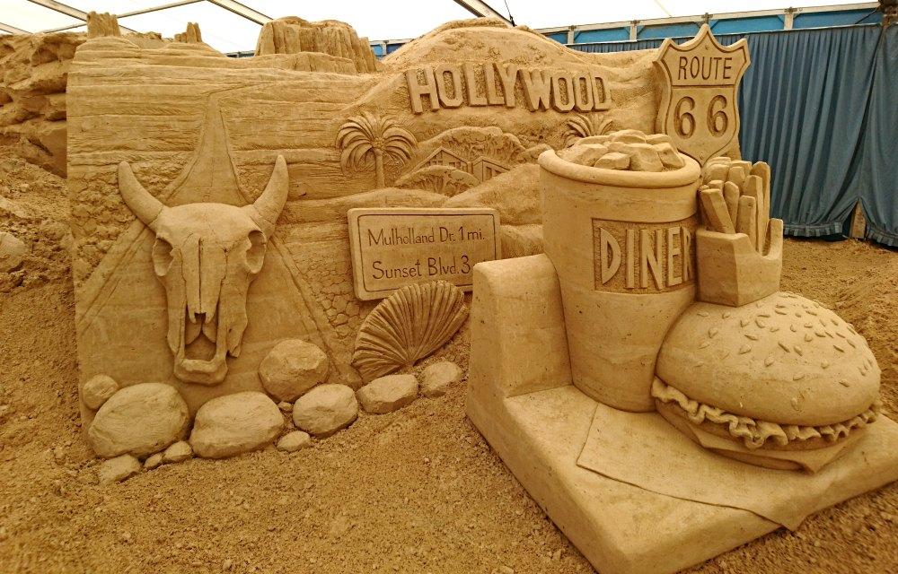 Sandskulpturen Festival Usedom: Amerika