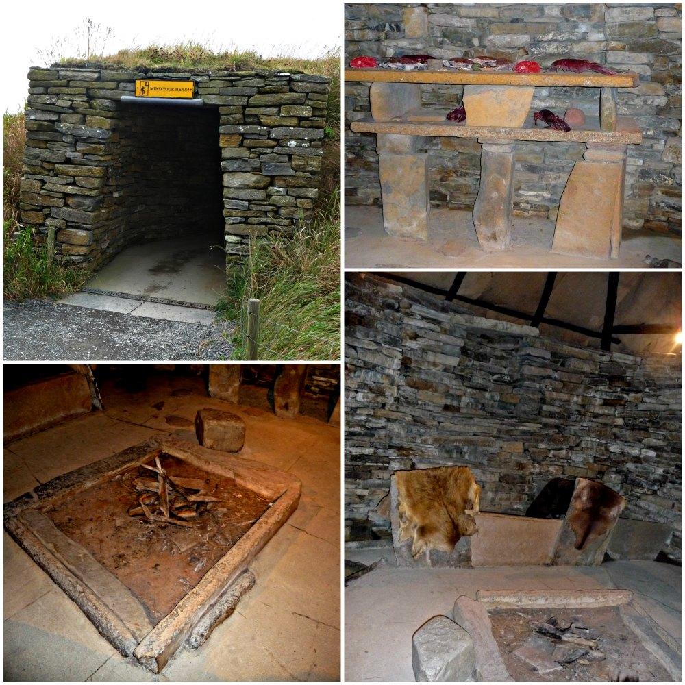 Nachbau eines Steinhauses in Skara Brae