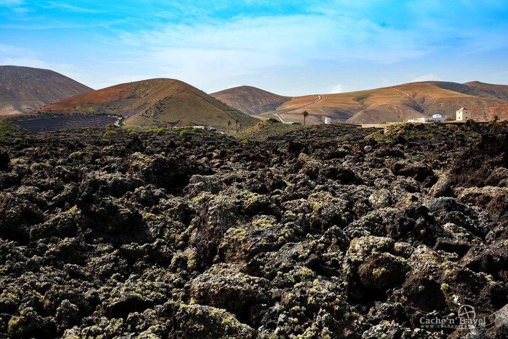 Feuerberge und Lava auf Lanzarote