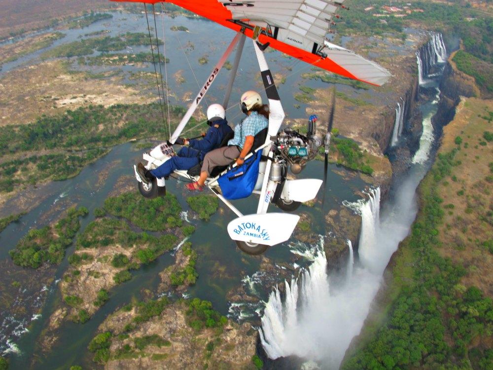 Afrika Abenteuer: Flug mit dem Microlight über den Victoria Falls