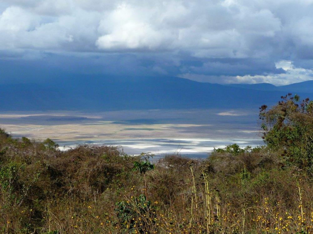 Ausblick auf den Ngorongoro Krater in Tansania, Afrika