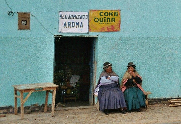 In Bolivien gehört die Melone zum Outfit der Cholitas.