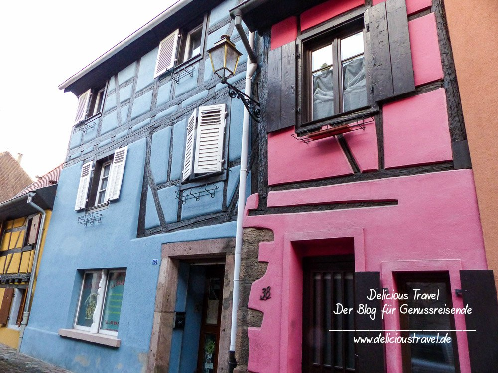 Typische Fachwerkhäuser im Elsass
