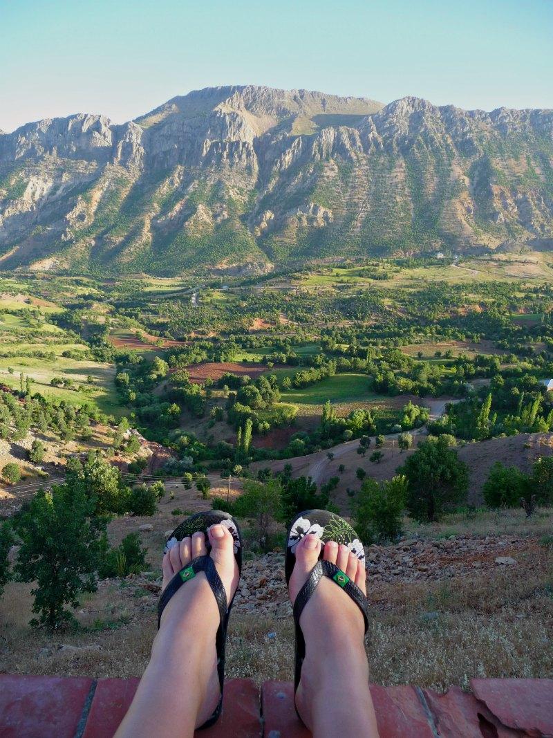 Relaxen während der Tour: Freizeit und Beine hochlegen