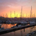 Sonnenuntergang in der Marina von Lagos