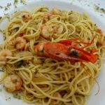 Restaurant O Pescador, Benagil: Spaghetti mit Gambas