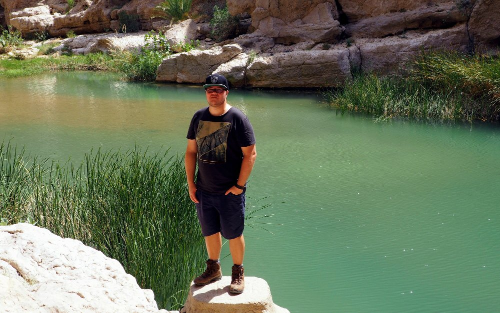 Marc im Wadi Shab | Bild: Everywhere But Home