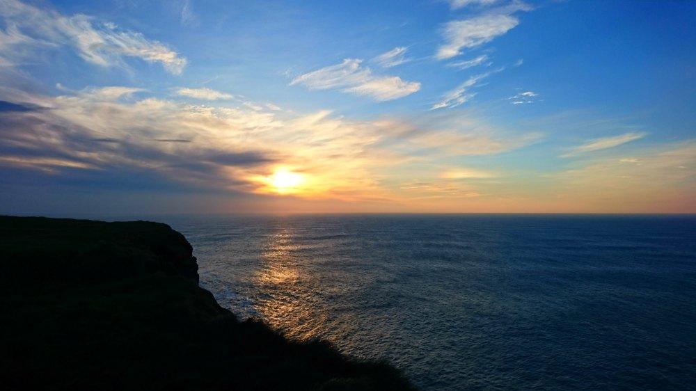 Sonnenuntergang am Loop Head, Irland