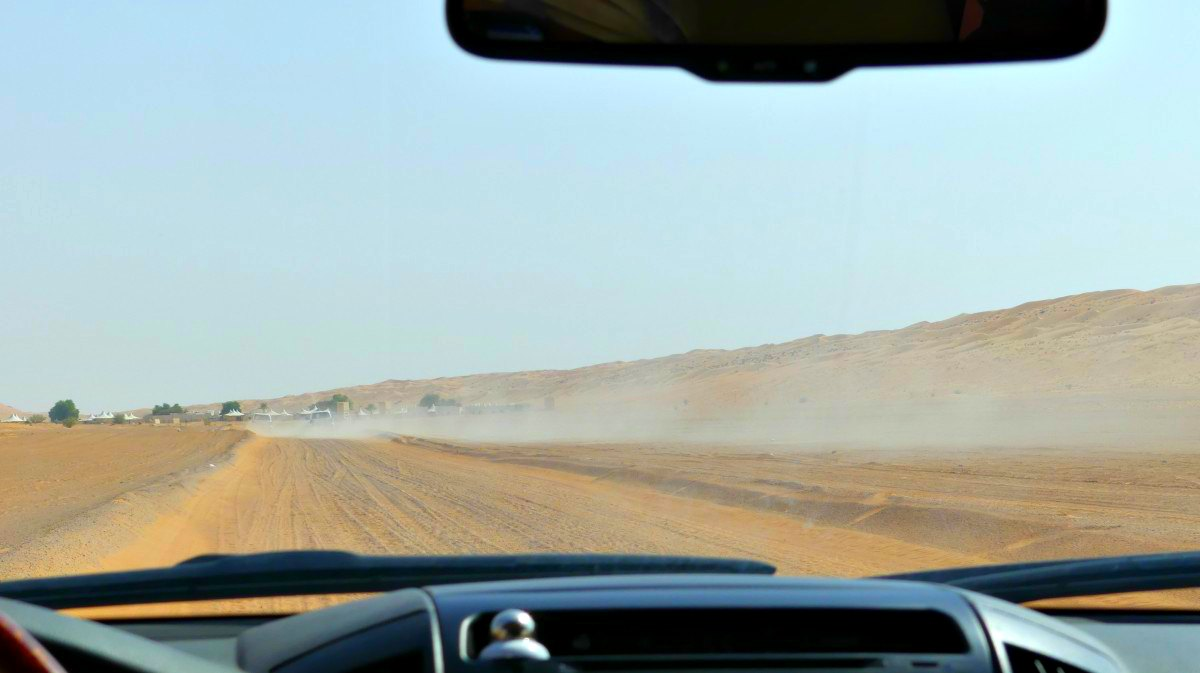 Wahiba Sands: Auf dem Weg ins Wüstencamp | Bild: Barbaras Spielwiese - Reiseblog