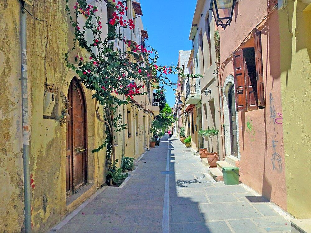 Kreta: Malerische Gassen von Rethymno
