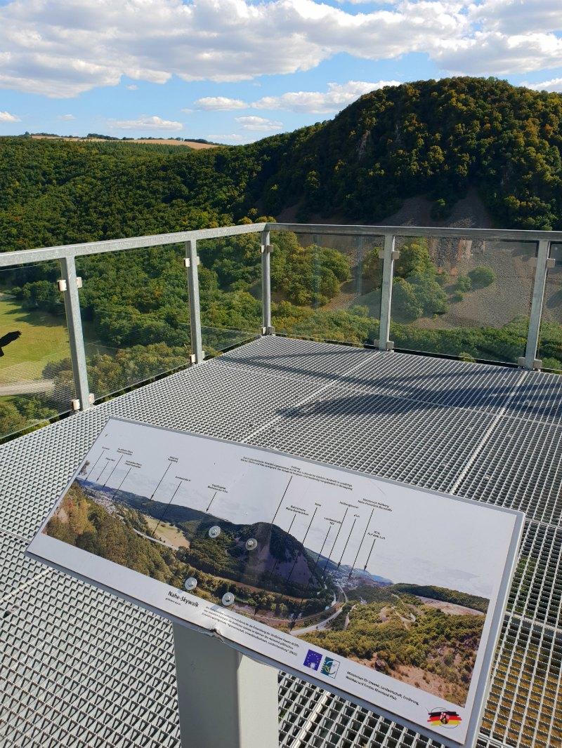 Nahetal von oben: Nahe-Skywalk
