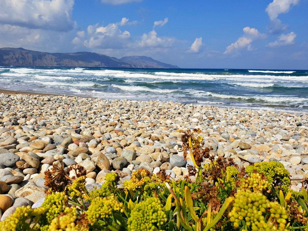 Am Strand von Georgioupolis in Richtung Kavros