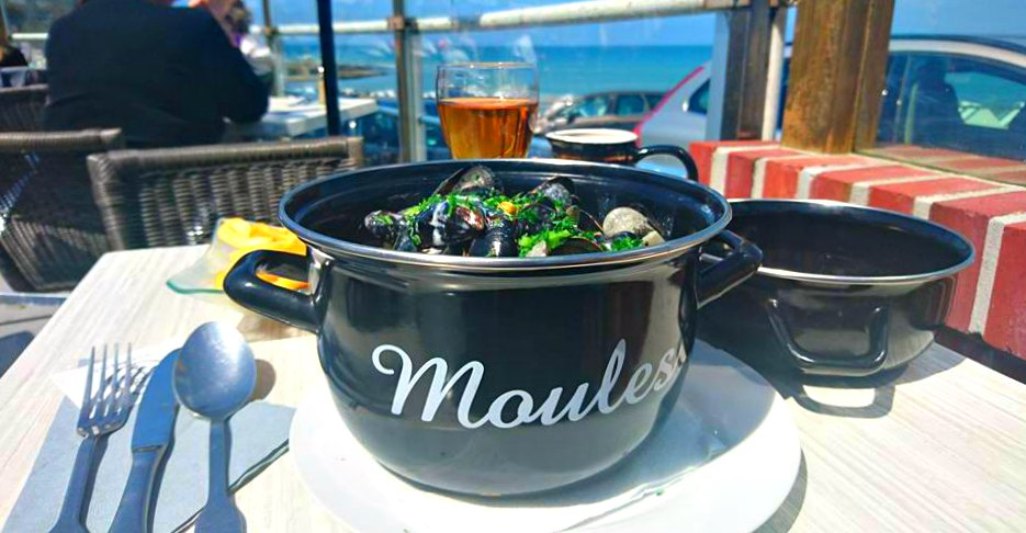 Moules à la Normande in Yport