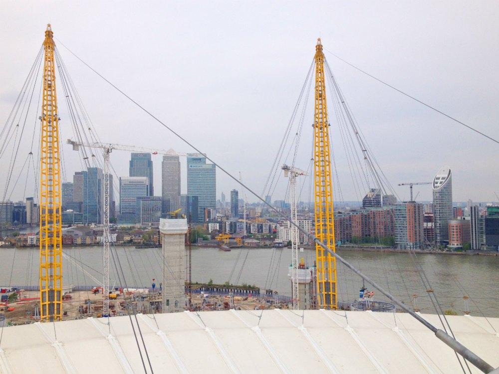 Up at the O2: Über den Dächern von London