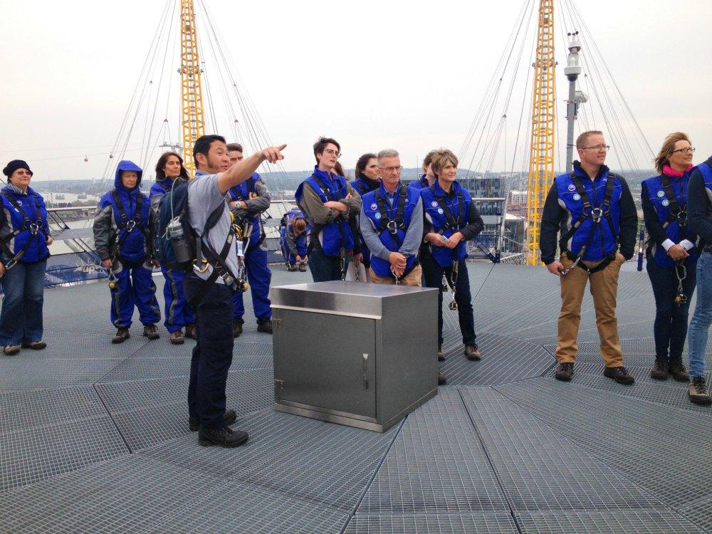 Aussichtsplattform der O2 Arena London