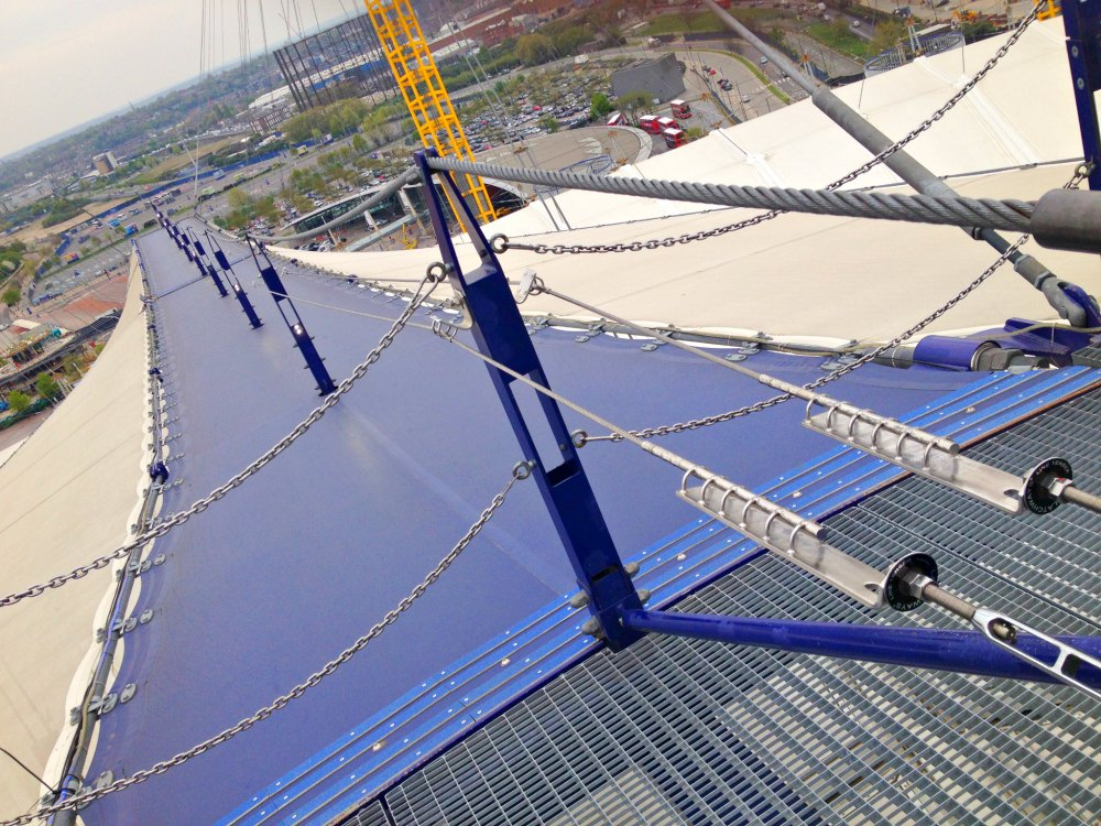 Sightseeing mal anders: Up at the O2 in London