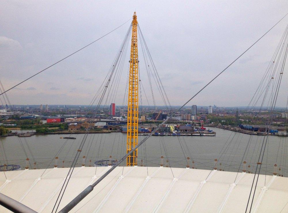 Über den Dächern von London: Up at the O2