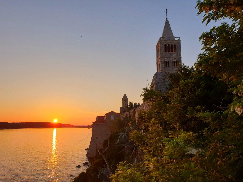 Sonnenuntergang in Rab, Kroatien