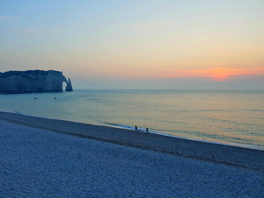 Foto vom Sonnenuntergang in Etretat