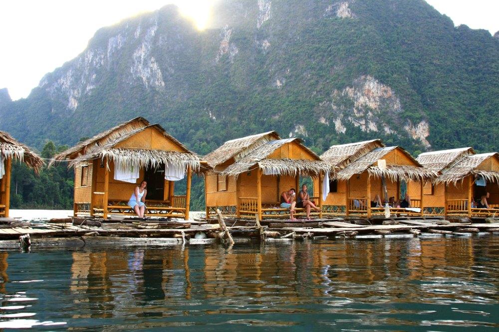 Thailand-Foto #06: Schwimmende Bungalows im Khao Sok Nationalpark