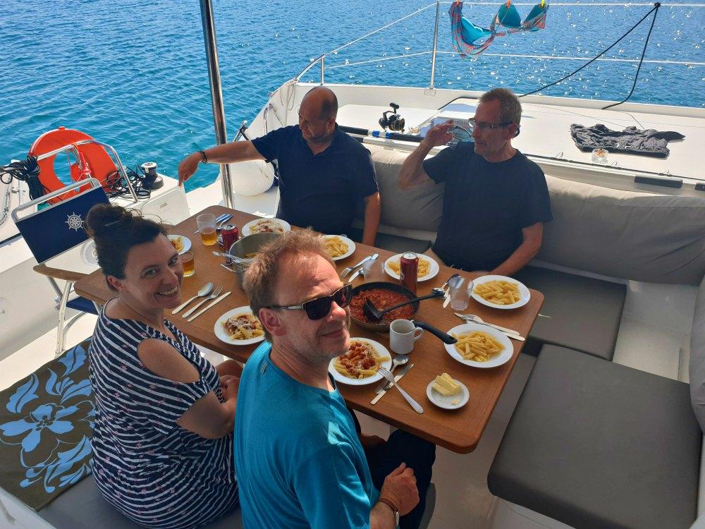 Segel in Istrien & der Kvarner Bucht: Essen an Bord