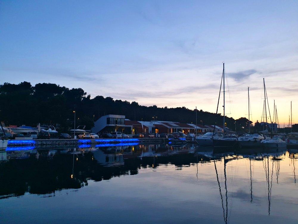 Kroatien: Letzte Nacht in der Marina Pomer