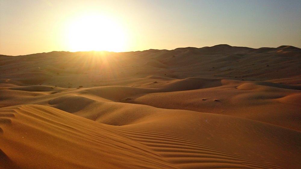 Sonnenuntergang in der Wüste Rub-al-Khali