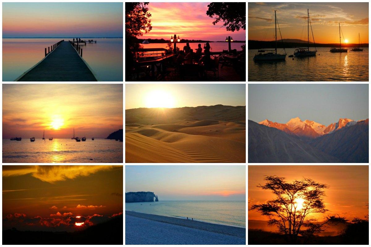 Sonnenuntergänge rund um die Welt: Von Pastellhimmel bis Farbexplosion
