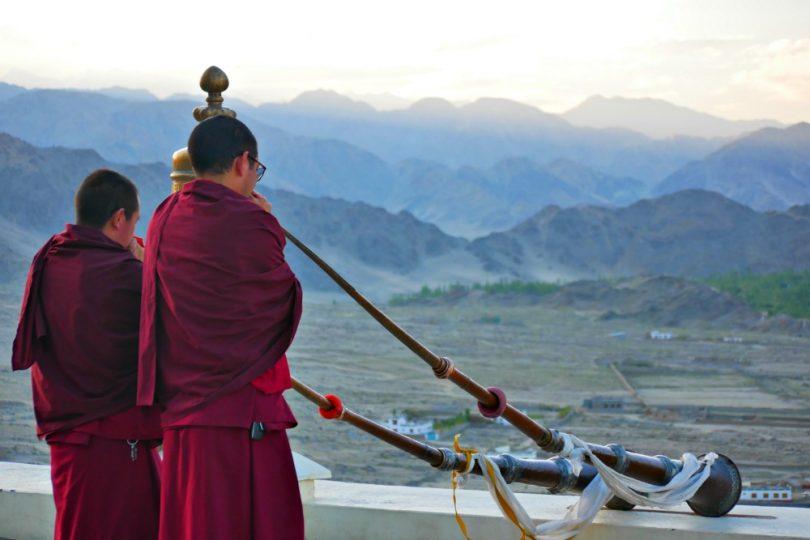 Sonnenaufgang im Kloster Thiksey in Ladakh