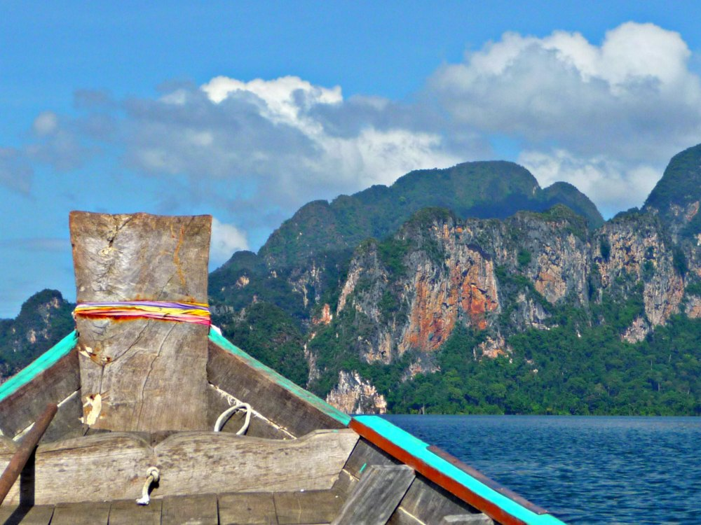 Thailand-Foto #05: Mit dem Longtail Boot über den Chiao-Lan-See im Khao Sok Nationalpark