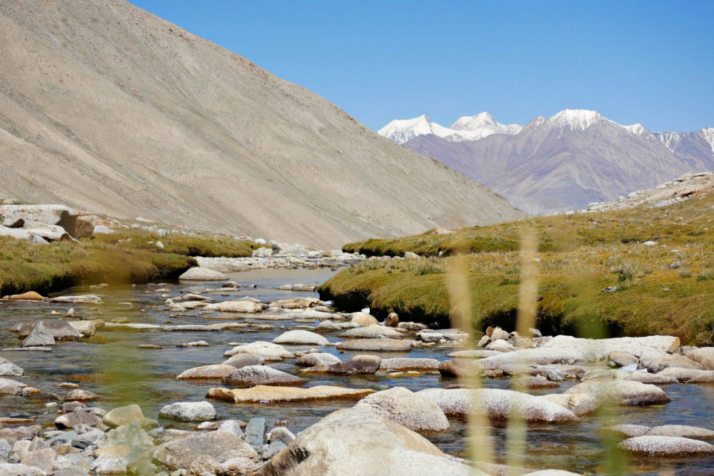 Landschaft in der Nähe des Wari La Passes in Ladakh