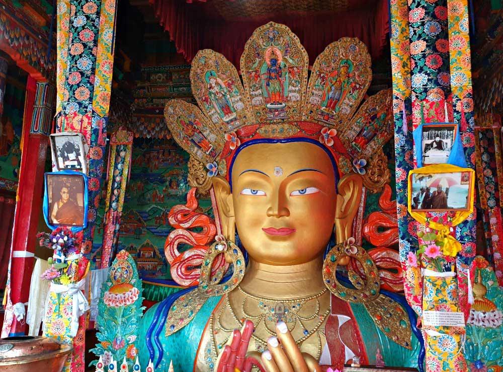 Maitreya Buddha-Statue im Thiksey-Kloster