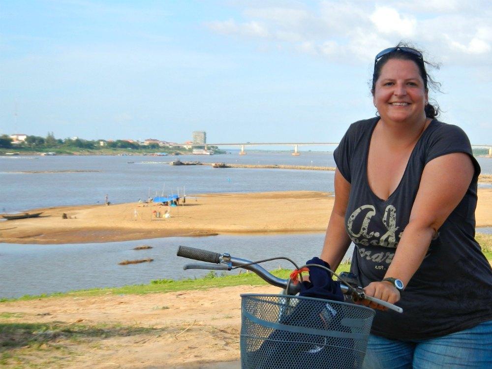Kampong Cham: Alte und neue Brücke über den Mekong