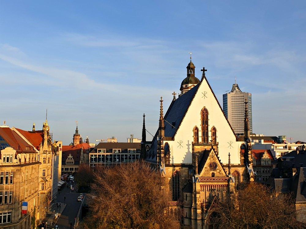 Blick über die Dächer von Leipzig