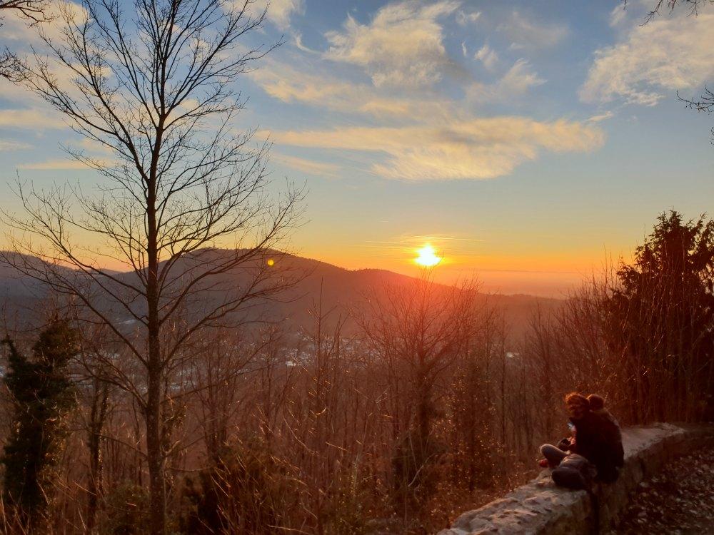 Sonnenuntergang über Baden-Baden