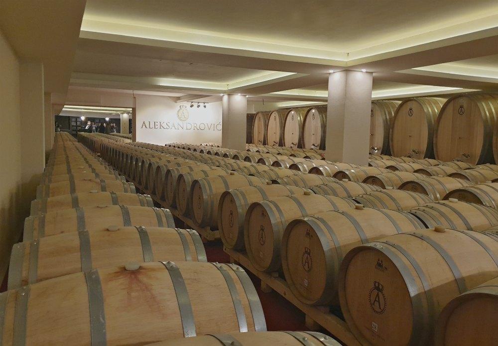 Führung durch den Weinkeller Aleksandrovic