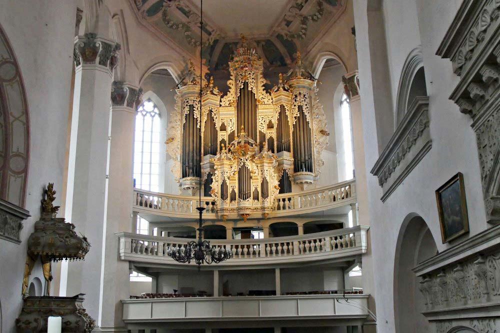 Barocke Hildebrandt-Orgel in der Stadtkirche St. Wenzel