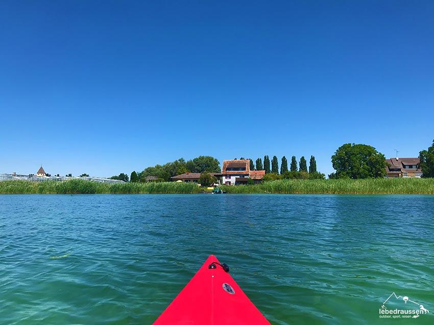 Mit dem Kajak auf dem Bodensee | Bild: Lebe draussen!