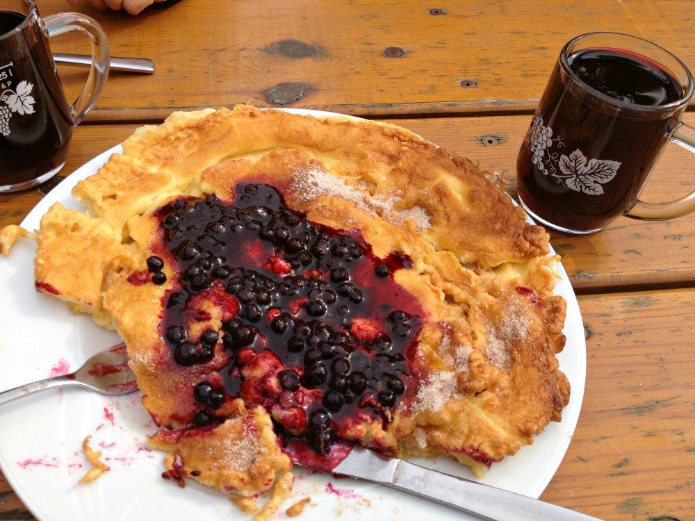 Mein Tipp: Heidelbeerpfannkuchen und Heidelbeerwein in der Grünhütte