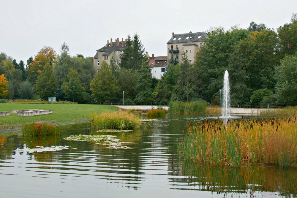 Johannisteich im Schlosspark Zeitz
