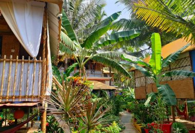 Strandhütte in Goa: Secret Garden in Agonda