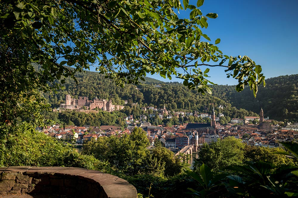 Heidelberg / Altstadtpanorama Schlangenweg; Bildnachweis: Heidelberg Marketing GmbH / Tobias Schwerdt