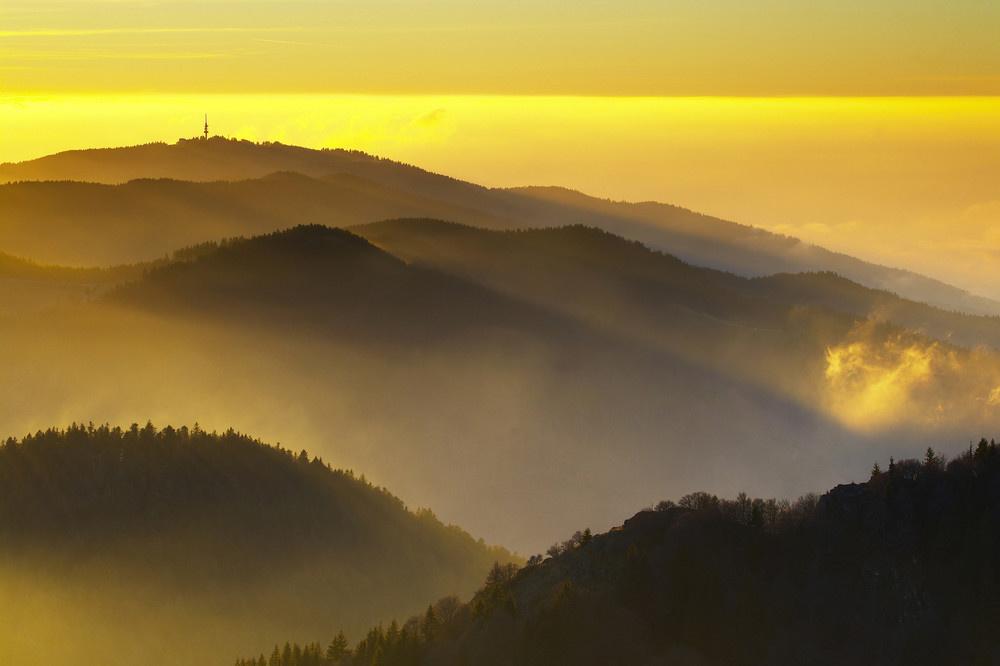 Blick vom Belchen zum Blauen | © Erich Spiegelhalter/ Schwarzwald Tourismus