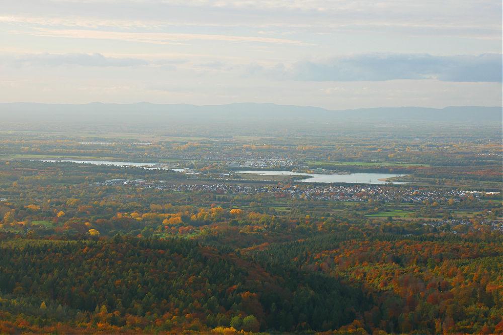 Ein Highlight des Ebersteinburg-Rundwegs: Blick hinunter ins Rheintal