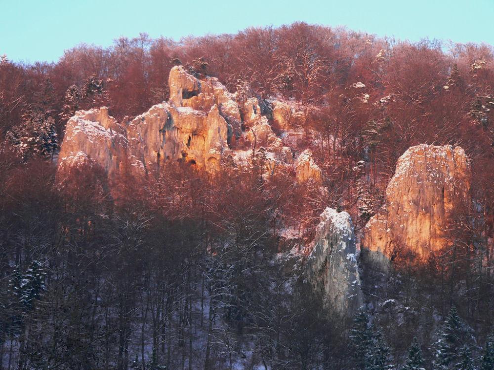Winter in Baden-Württemberg - Felsenlabyrinth Weiler Halde bei Blaubeuren   Bildnachweis: Alb-Donau-Kreis Tourismus