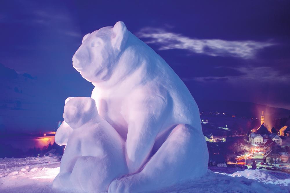 Schwarzwälder Schneeskulpturen-Festival Bernau   Bildnachweis: Tourist Information Bernau / Birgit-Cathrin Duval