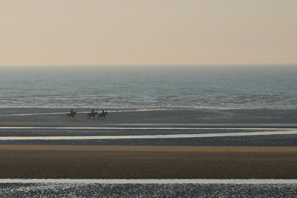 Wohnmobil-Tour in der Normandie: Strand des Seebads Cabourg in der Normandie